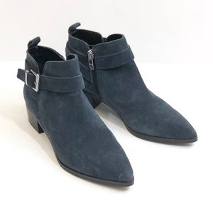 Marc Fisher Ireene Blue Suede Ankle Boots